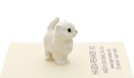 Hagen-Renaker Miniature Ceramic Cat Figurine Tiny White Persian Kitten image 2