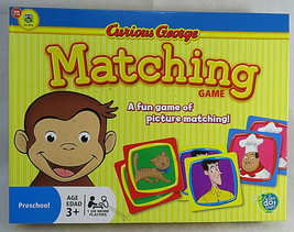 Curious George MATCHING GAME A Fun Game Of Picture Matching for Kids - $30.00