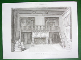 ARCHITECTURE PRINT : France Residence on Rue Dumont d'Urville Grand Salo... - $21.60