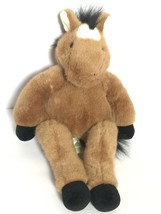 BABW Build A Bear Floppy Pony Light Brown Horse RETIRED Plush Stuffed An... - $49.99