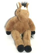 BABW Build A Bear Floppy Pony Light Brown Horse RETIRED Plush Stuffed An... - $49.99