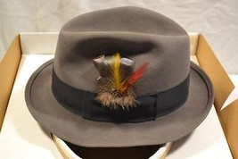 Stetson Caribou Fedora Nobel D2000 Royal Dress Felt Hat 6 7/8 HAT IS NEA... - $60.00