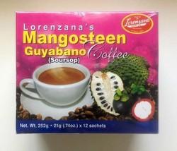 Lorenzanas Mangosteen Guyabano Coffee 21g X 12 = 252 grams - $62.93