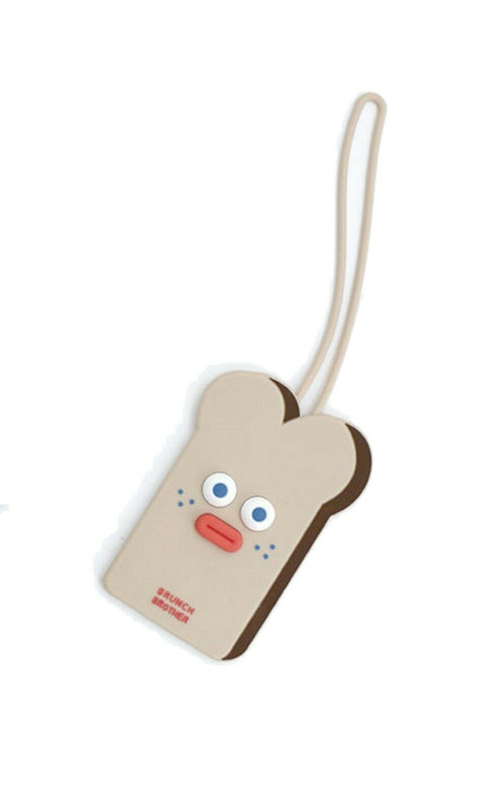 Brunch Brother Suitcase Luggage Tag popped Eyes Baggage Travel Bag (Toast)