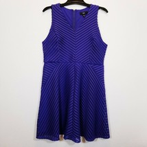 MOSSIMO Womens Lined Purple Knit Cocktail Dress Size XL Party Sleeveless... - $28.70