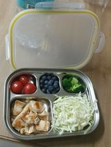 SuCompany Kids Lunch Box Airtight Stainless Steel Food Container Table Plate image 7
