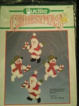Bucilla Vtg  Christmas Kit Very Rare Yuletide Buddies Felt Ornaments Vht... - $44.55