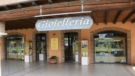 "ROSE EARRINGS ORANGE SQUARE MURANO GLASS, OVAL PENDANT, 6.5cm 2.56"" ITALY MADE image 3"