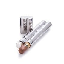 Silver Flask, 2 Oz Stainless Steel Lid Whiskey Flask Holder, With Cigar ... - €21,30 EUR