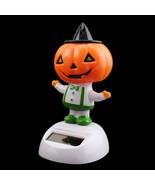 Dancing Orange Pumpkin Solar Powered Window Halloween Desk Decorations - €4,36 EUR