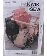 Kwik Sew 2379 Back Packs Three Different Size Sewing Pattern Part Cut Da... - $10.00