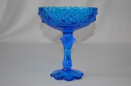 Fenton Rose Cobalt Blue High Footed Comport # 9222CB - $14.85