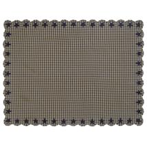 BLACK STAR Scalloped Table Cloth - 60x80 - Farmhouse Black/Tan - VHC Brands