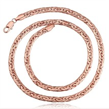 Rose Gold 3D Hollow Franco Box Link Chain - $12.73