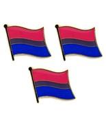 """LOT OF 3 BISEXUAL PRIDE FLAG LAPEL PIN 0.5"""" Bi LGBT Gay Lesbian Tie Hat ... - $6.87"""