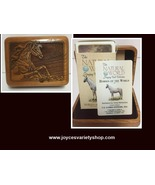 Wood Carved Box & Horse Playing Card Deck Wilderness Woods The Natural W... - $18.99