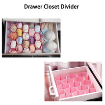 Honeycomb Drawer Divider Storage Box Tie Belt Jewelry Sock Organizer Pink - $8.81