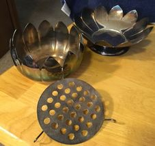 Reed & Barton Lotus Candlesticks & Centerpiece Silverplate image 5