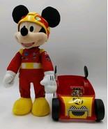 Mickey Roadster Racers Racing Race Car Adventures Plush Toy, Lights Soun... - $20.76
