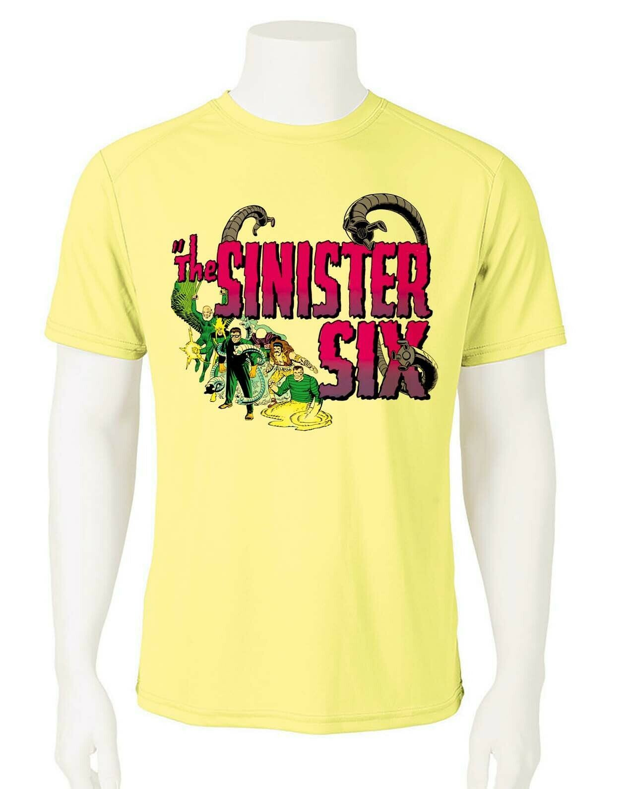 Sinister six graphic dri fit wicking tshirt
