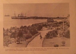 Vintage Steamship Docks At Wharf Number One Redondo Beach Print Picture - $14.99