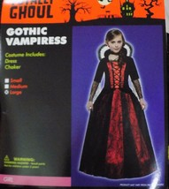 New Girl's Gothic Vampiress Costume Hoop Dress Size L Large Nwt - Free Shipping - $18.99