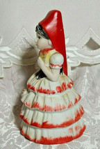 VINTAGE BELL FLAMBRO PORCELAIN BISQUE SPANISH FLAMENCO DANCER WOMAN BELL image 2