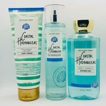 Bath & Body Works COASTAL HYDRANGEAS Trio Fragrance Mist, Cream & Shower... - $34.64