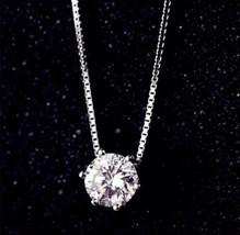 ANENJERY 925 Sterling Silver AAA+ Cubic Zirconium Choker Necklace [PEN-236] - $11.88