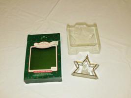 RARE ornament Hallmark Christmas Miniature Creche acrylic 4th manger series - $18.13