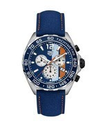 Tag Heuer Men's CAZ101N.FC8243 Formula 1 Chronograph Blue Leather Watch - £1,108.49 GBP