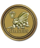 Seabees Bronze Medallion for Box Cremation Urn/Flag Case - 2 Inch Diameter - $59.99