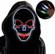 Led Purge Mask, Halloween Mask Led Light Up Mask For Halloween Cosplay P... - $26.27 CAD