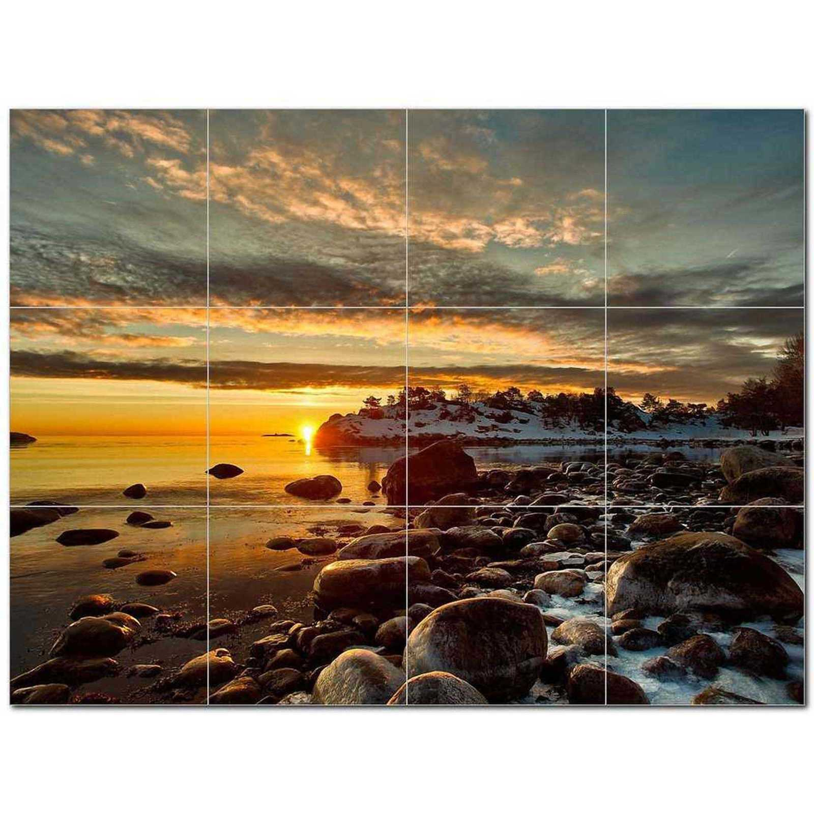 Primary image for Sunset Picture Ceramic Tile Mural Kitchen Backsplash Bathroom Shower BAZ405963