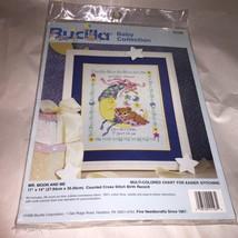 Bucilla Baby Cross Stitch Kit Mr. Moon and Me Counted Cross Stitch #4119... - $16.33