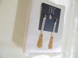 INC International Gold-Tone Stone & Chain Tassel Linear Drop Earrings H8... - $8.63