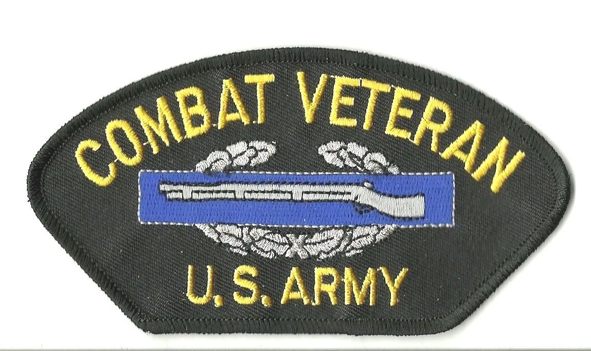 "Primary image for ARMY COMBAT VETERAN CIB SOLDIER EMBROIDERED 5"" MILITARY  PATCH"