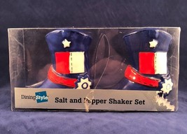 Salt & Pepper Shakers Texas Lone Star Boots Red White Blue 4th of July P... - $14.84