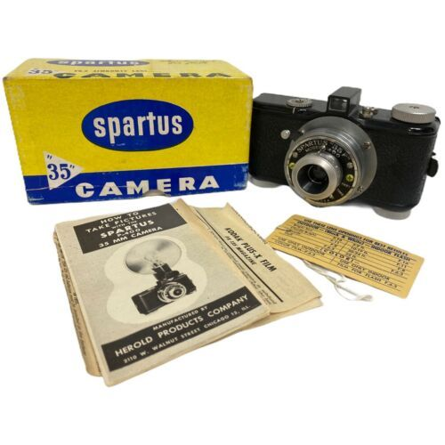 Primary image for Spartus 35F Model 400 Vintage 35mm Film Camera W/ F6.3 Achromat Lens with Box