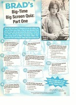 Brad Renfro teen magazine pinup clipping shirtless big time screen quiz The Cure