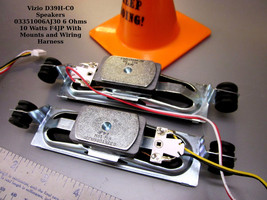Vizio D39H-C0 Speakers 03351006AJ30 6 Ohms 10 Watts F4JP With Mounts and Wiring - $16.95