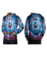 Fire Blue Eyes Satanic Hoodie Zipper For men - $49.99+