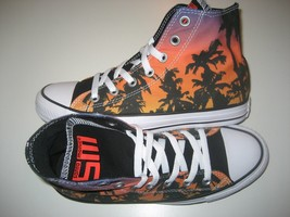 Converse Womens CTAS Hi Santa Monica Fire Black White Skate Shoes Size 7... - $53.45