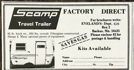 1979 Scamp Travel Trailer PRINT AD - $7.69