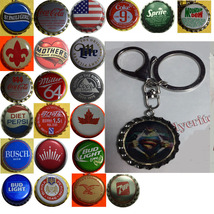 Superman Coke Sprite Diet pepsi & more Soda beer cap Keychain