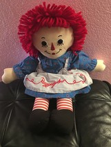 """Applause Classic Raggedy Ann Cloth Doll 17"""" Hasbro 2010 With Tags - $12.08"""