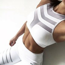 Woman Sport Bra Fitness Stretch Push Up Crop Top Cropped Tanks Workout B... - $13.96