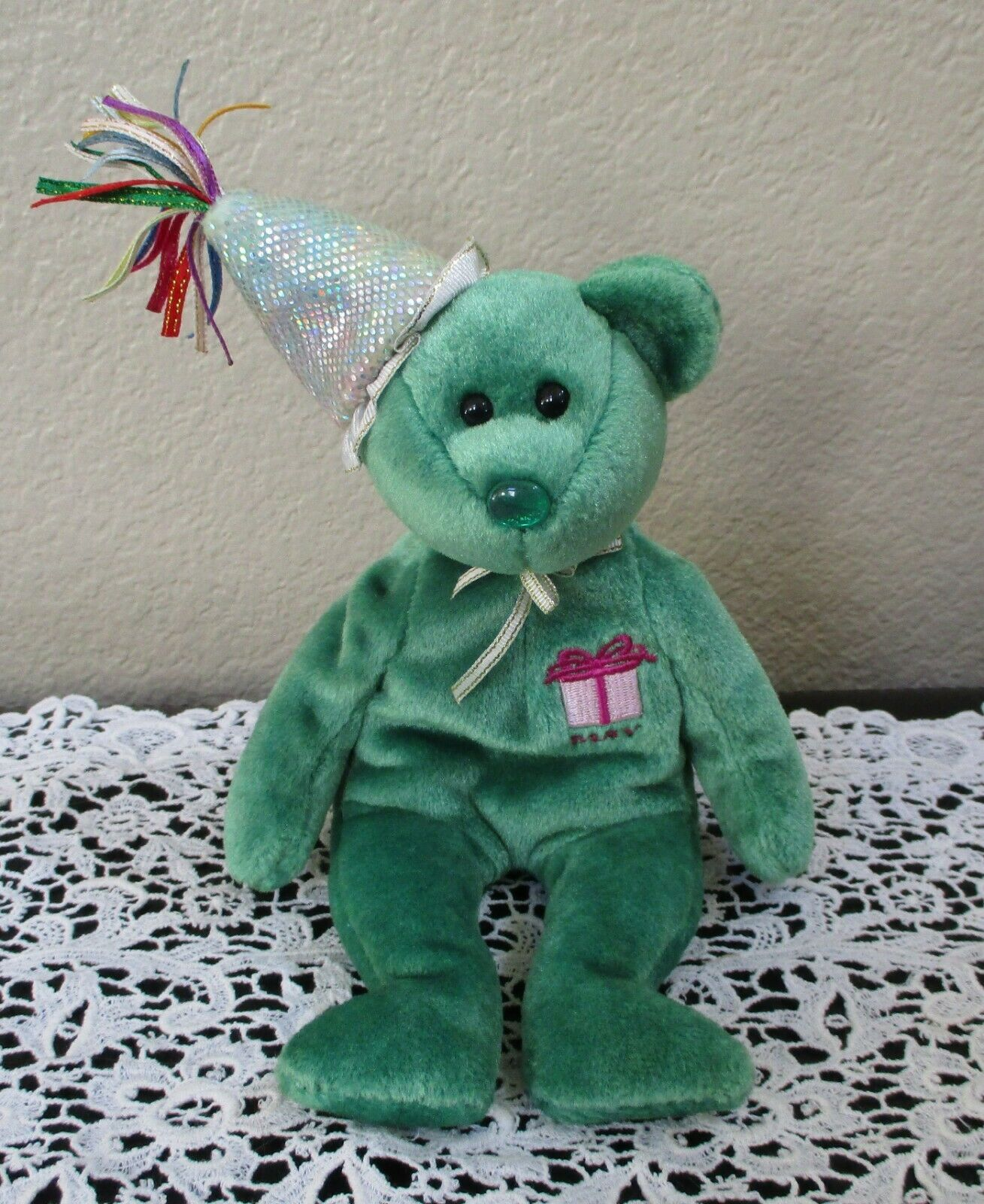 Primary image for Ty Beanie Baby Birthday May with Hat NO TAG