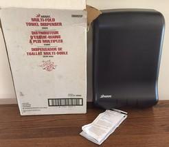 SAN JAMAR Array Multi-Fold Paper Towel Dispenser Smoke Gray KEY 306002GF - $28.04