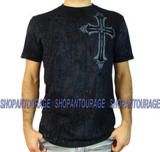 AFFLICTION Concept A12223 New Men`s Black T-shirt - $38.96